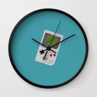 gameboy Wall Clocks featuring Gameboy by Ira Shepel