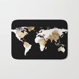 World Map Silhouette - Popcorn Bath Mat