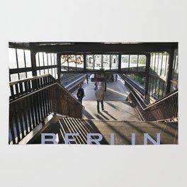 suburban railway station - Berlin Rug
