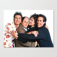 seinfeld Canvas Prints featuring Seinfeld by Frank Deuce