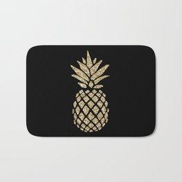 Gold Glitter Pineapple Bath Mat