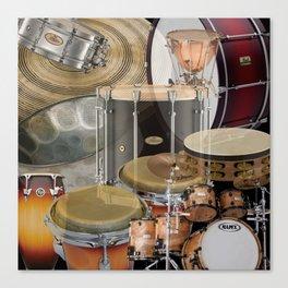 Percussion Instruments Canvas Print