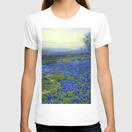 Meadow of Wild Blue Irises, Springtime by Maria Oakey Dewing T-shirt