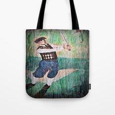 Vintage Golfer Tote Bag