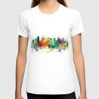 north carolina T-shirts featuring Charlotte, North Carolina Skyline SP by Marlene Watson