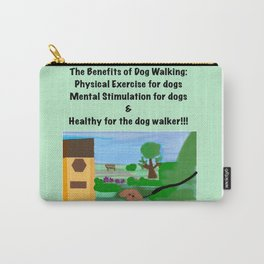 Dog Walking Shirt Series #1 Carry-All Pouch