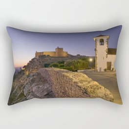 Marvao at dusk Rectangular Pillow