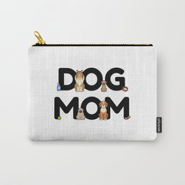 Dog Mom - Dog Lady Mama Puppy Barking Walking Carry-All Pouch