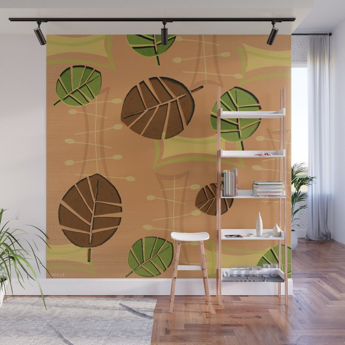 Tiki Bar Wallpaper Pattern Wall Mural