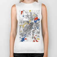 kansas Biker Tanks featuring Kansas City  by Mondrian Maps