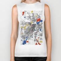 kansas city Biker Tanks featuring Kansas City  by Mondrian Maps