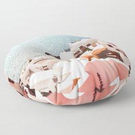 Santorini, Oia, Greece Floor Pillow