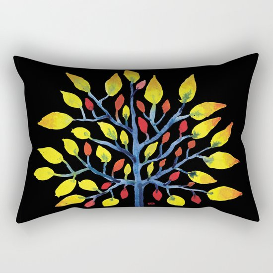 Yellow Tree Rectangular Pillow