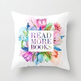 Read More Books Pastel Throw Pillow