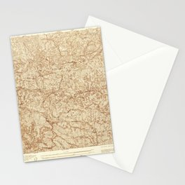 Mt. Wilson, CA from 1934 Vintage Map - High Quality Stationery Cards