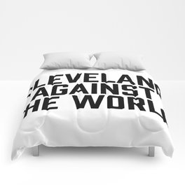 Cleveland Against the World Comforters