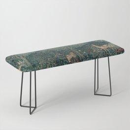 William Morris Greenery Tapestry Bench