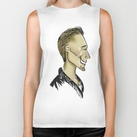 sweater Biker Tanks featuring Hiddles Sweater by Rowena Leavy