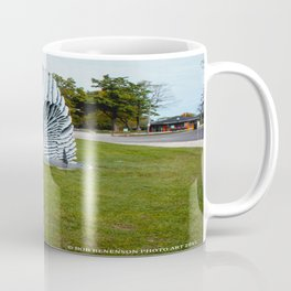Geese and Wing Sculpture: Life Imitates Art (Chicago North Pond Collection) Coffee Mug
