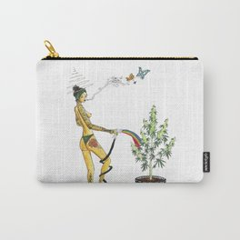 Rainbow Weed Babe - Higher Life Carry-All Pouch