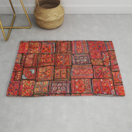 V5 Red Traditional Moroccan Design - A3 Rug