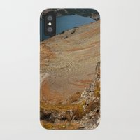 hiking iPhone & iPod Cases featuring Mountain hiking by Mariana's ART