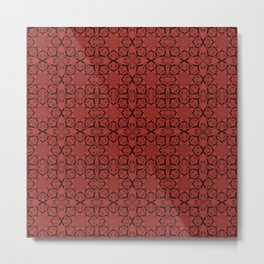 Aurora Red Geometric Metal Print