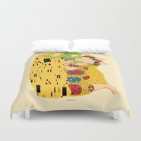 klimt Duvet Covers featuring Klimt muppets by tuditees