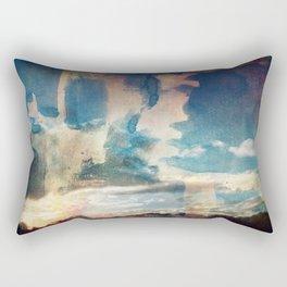 Spray Painting the Sunset Rectangular Pillow