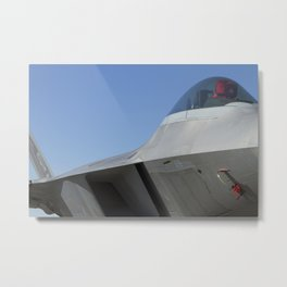 F22 F-22 Raptor Fighter Military Aircraft/Airplane Detail USAF Metal Print