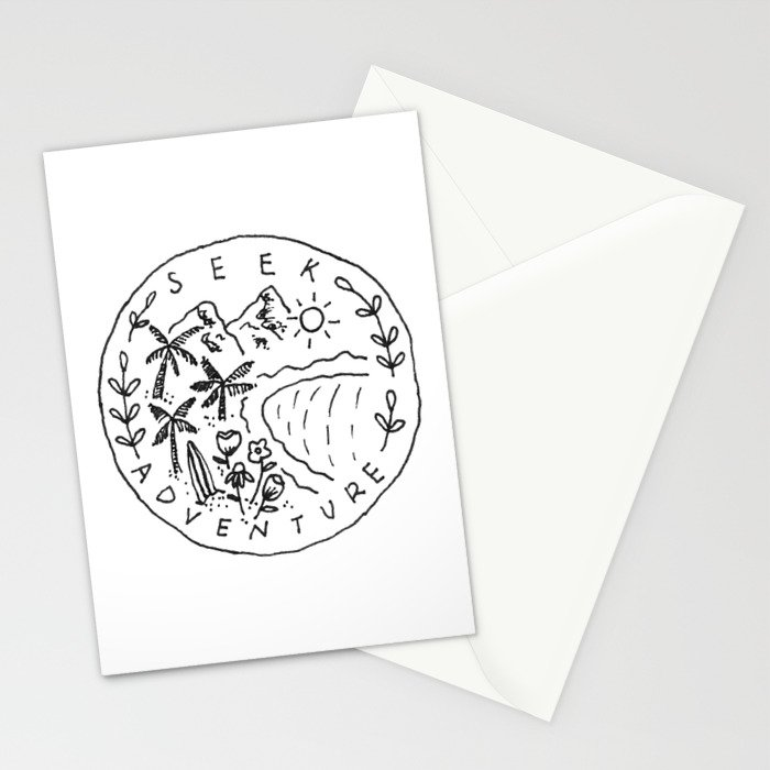 Seek Adventure Stationery Cards
