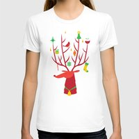 reindeer T-shirts featuring Reindeer by Wharton