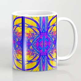 Blue & Golden Desert Mirage Abstract Coffee Mug