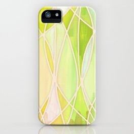 Lemon & Lime Love - abstract painting in yellow & green iPhone Case