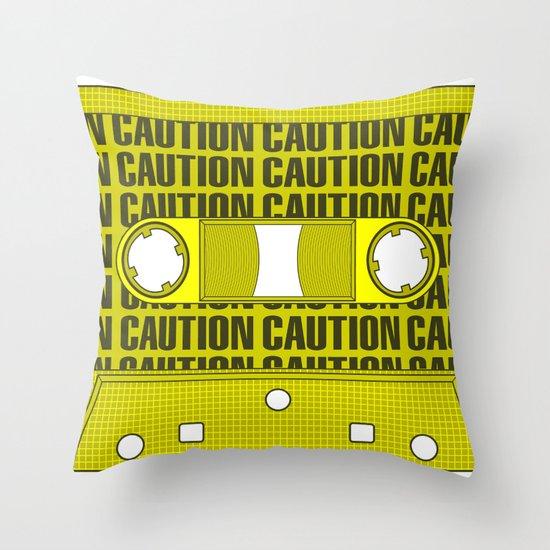 Caution Tape Throw Pillow