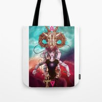 occult Tote Bags featuring Occult allegory by Kami-katamari
