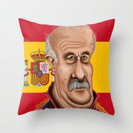 Vicente Del Bosque World Cup 2014 Throw Pillow