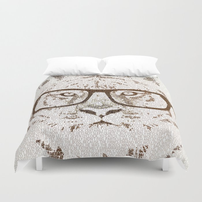 The Hipster Tiger Duvet Cover