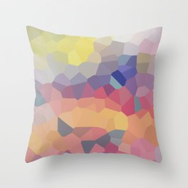 Pastel Geometric Moon Rise Throw Pillow