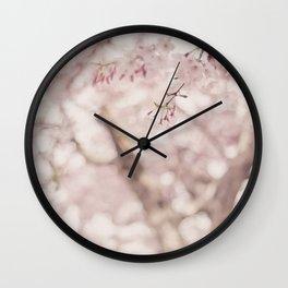 Pastel sakura Wall Clock
