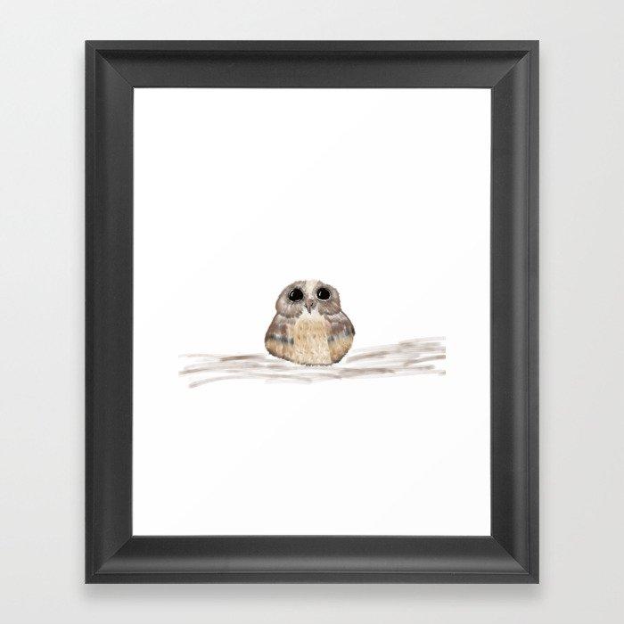 Sweet owl Framed Art Print