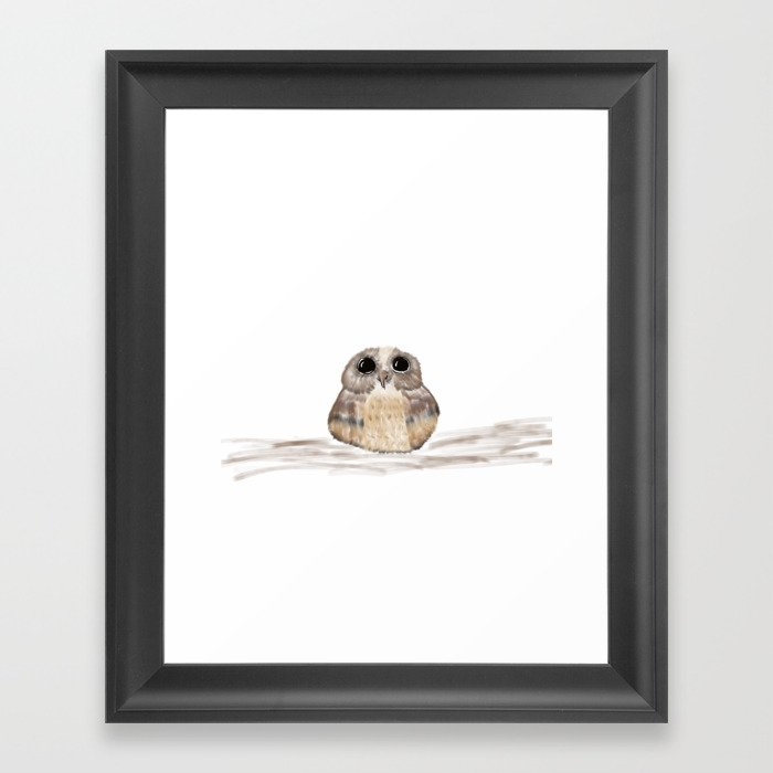Sweet owl Framed Art Print