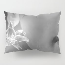 Flower Earring Black And White #decor #society6 #buyart Pillow Sham