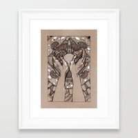 circle Framed Art Prints featuring Circle by Iris V.