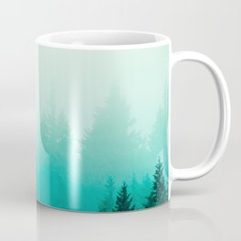 Fog Foggy Samish Forest Woods Mountain Northwest Washington Landscape Coffee Mug