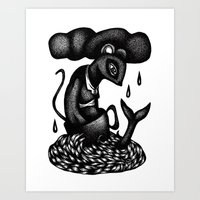 Mouse in a Teacup Art Print