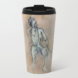 Sexy, Strong, Sleepy (oil on canvas) Travel Mug
