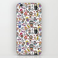 harry potter iPhone & iPod Skins featuring Wizards by Hello Quirky