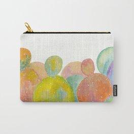 Rainbow Cactus Carry-All Pouch