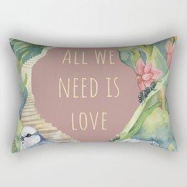 all we need is love- garden & heart Rectangular Pillow